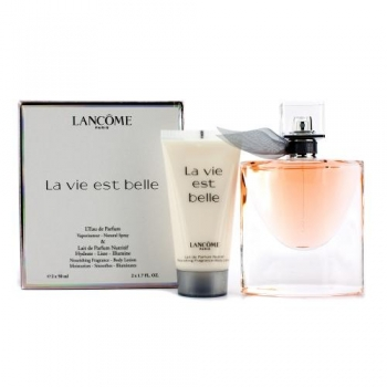 LANCOME LA VIE EST BELLE SET 50ML*50 ML BDY LOT